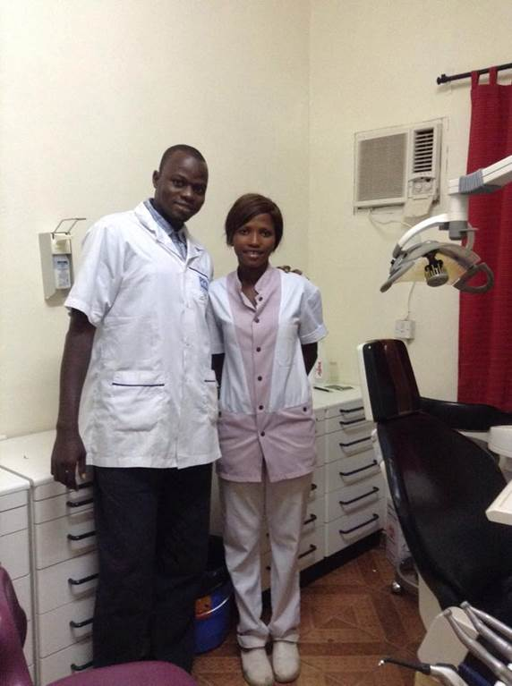 Dr. Kebe and his assistant Bintou - our Dental Station Staff 2016