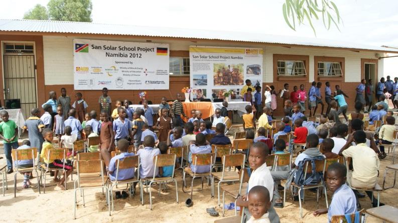 Schule in der Kuneregion in Namibia