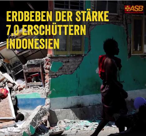 Ein zweites Erdbeben erschütterte die indonesische Insel Lombok. Ein Spezialteam des ASB Indonesien rückte diese Woche aus, um die Lage vor allem für behinderte Menschen zu prüfen. Foto: ASB Deutschland